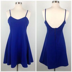 ZARA Royal Blue Fit and Flare Skater Mini Dress